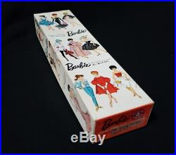 Vintage 1958 MATTEL Japanese BARBIE DOLL Side Part American Girl withBox & Manual