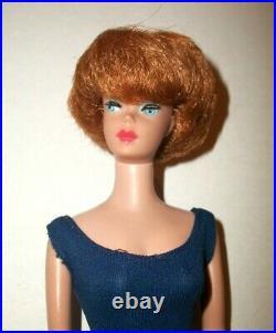 Vintage 1960s Titian American Girl Face Bubblecut Barbie Doll Blue Helenca Suit