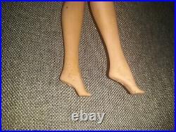 Vintage 1965 Short Blonde American Girl Barbie Indented with Blue Dress Japan