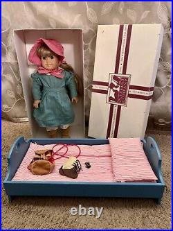 Vintage American Girl 18 Kirsten Doll Pleasant Company withBed Mattress Backpack
