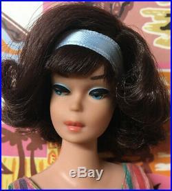 Vintage American Girl Dark Brunette Japanese Side Part Barbie Doll byApril