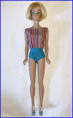 Vintage Barbie American Girl Blonde Straight Leg-oss Incl Paper Japan Tag+shoes