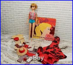 Vintage Barbie Bend Leg American Girl doll, ash blonde, extras, Open Road outfit