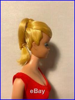 Vintage Barbie Doll Swirl Ponytail American Girl Face Original Hair Ribbon