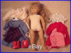 Vintage Kirsten American Girl Doll Pleasant Company blonde blue eye dresses