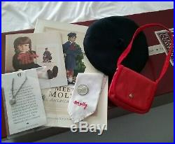 Vtg Pleasant Company American Girl White Body Molly Doll with Original Box Outfit