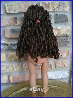 Zaria Custom OOAK African American Girl Doll Brown Natural Curly Hair Amber Eyes